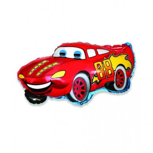 Шар (32''/81 см) Фигура, Гоночная машина, Красный