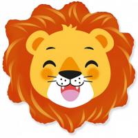 Шар (23''/58 см) Фигура, Голова, Счастливый Лев