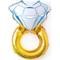 Шар (27''/69 см) Фигура, Кольцо с бриллиантом