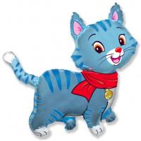 Шар (32''/81 см) Фигура, Любимый котенок, Синий