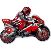 """Шар (31''/79 см) Фигура, """"Мотоцикл, Красный"""""""