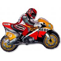 "Шар (31''/79 см) Фигура, ""Мотоцикл, Оранжевый"""