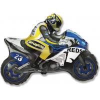 "Шар (31''/79 см) Фигура, ""Мотоцикл, Синий"""