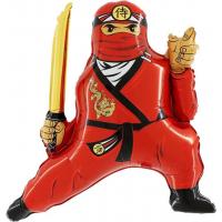 Шар (32''/81 см) Фигура, Ниндзя, Красный