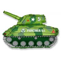 """Шар (31''/79 см) Фигура, """"Танк, Зеленый"""""""
