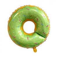 """Шар ( 27""""/69 см) Фигура"""" Пончик Зеленый"""""""