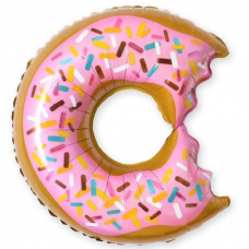 """Шар ( 26""""/66 см) Фигура """"Пончик Розовый"""""""